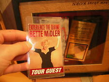 BETTE MIDDLER BACKSTAGE PASS TOUR GUEST
