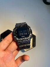 Cuadrado Casio G Shock Reloj DW5600PM-1ER Polarizado Negro y Morado Mármol Raro