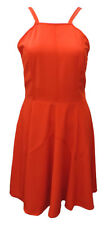 AJOY ORANGE COCKTAIL DRESS WITH NARROW NECKLINE SIZE. 10,12,14,16.