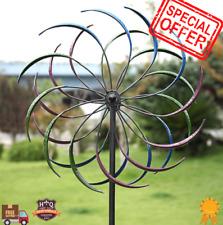"79"" Metal Kinetic Rainbow Wind Spinner Decorative Lawn Ornament Wind Mill Garden"
