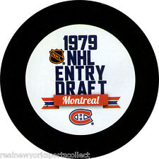 1979 NHL DRAFT SOUVENIR PUCK MONTREAL RAY BOURQUE MIKE GARTNER RARE
