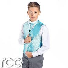 Niños Aqua & Gris Suit, Traje Ceremonia Niño, Boda, Niños, Espiral