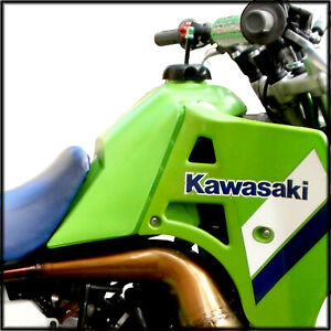 CLARKE KAWASAKI KXT250 TECATE 3 1986-1987 FUEL TANK STOCK REPLICA GAS TANK GREEN