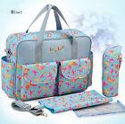 New 5PCS Waterproof Baby Changing Diaper Nappy Mummy Bag Bottle Holder Handbag