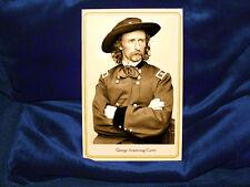 GEORGE ARMSTRONG CUSTER Cabinet Card Photo Handmade Civil War Vintage