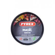 Pyrex Magic Springform Cake Tin, Non-Stick Coated Carbon Steel, Black, 20cm