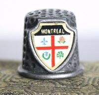 Vintage Pewter Sewing Thimble Souvenir from Montreal Canada