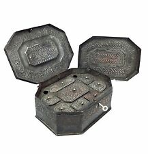 Antique Indian Copper Spice Box / Tin / 19th Century Metal Collectable