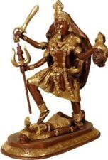"Kali Mother On Shiva Protect World Plate Jai God Statue 13.5""Brass Hindu 10.91KG"