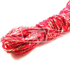 2 x 10m SPARKLING RED CHRISTMAS BAKERS TWINE, XMAS BUTCHERS BAKERS ARTS CRAFTS