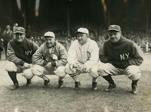 Ty Cobb, Lou Gehrig, Babe Ruth Reproduction archival quality photo