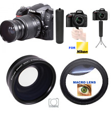 67MM HD WIDE ANGLE LENS + 10X MACRO LENS + SPORT GRIP FOR NIKON COOLPIX P900