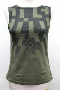 RAPHA Ladies Green Souplesse Mesh Base Layer Print Vest Top Size Large NEW