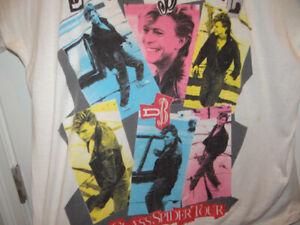 DAVID BOWIE Glass Spider Tour Concert Rock TShirt XL One Size N. Amer 87