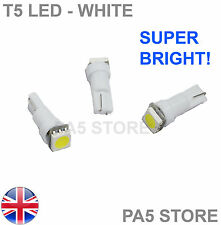 3x T5 Dashboard LED WHITE (3pcs) - Super Bright 5050 Bulbs Quality. UK Post