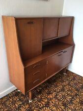 Mid century wall unit drawers display cabinet teak retro vintage G Plan