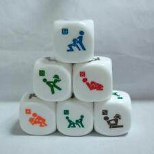 CA 1Pcs x 6 Sides Sex Dice Game 20mm PVC Toy Fun Bachelor Party Adult  Gift
