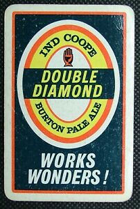 1 x Playing card single swap Ind Coope Double Diamonds 6 Hearts Y497