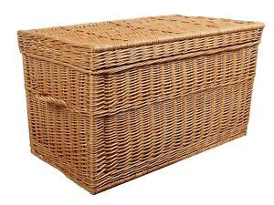 Weidenkorb 80 XL Korbtruhe Truhe Weide Weidentruhe Spielzeugbox Koffer Box Braun