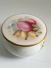 Royal Worcester Miniature Victorian Hand Painted Porcelain Pot & Cover 1901