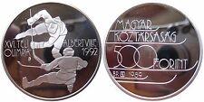 UNGARN  KM 672  500 Forint Olympia 1992 Eishockey 1989 in PRF 65   PP