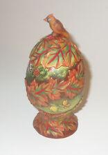 Fall Egg Box G DeBrekht Trinket Cardinal Leaves Butterflies Autumn Colors New