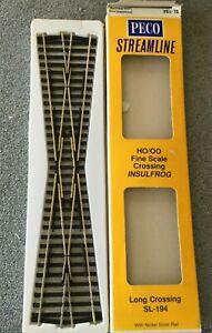 Peco Fine Scale 00 Gauge Track - Long Crossing SL-194 - pre-owned & unused