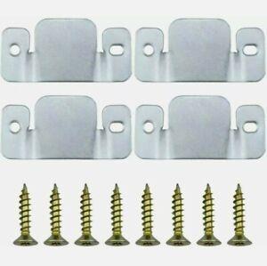 4 x Corner sofa Wall Headboard interlocking Connecting Clips Brackets & 8 Screws
