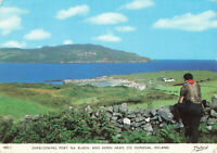 Vintage Postcard Overlooking Port Na Blagh & Horn Head Donegal, Ireland Unposted