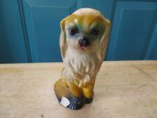 Vintage Chalkware Cocker Spaniel Dog Figure