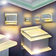 Lámpara de pared metal pantalla cristal satinado salón dormitorio entrada