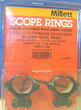Millett Ruger 10/22 1inch Medium Blue Scope Rings.