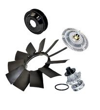 Water Pump Fan Clutch Fan Blade Pulley Kit BMW E46 325i E39 525i E53 X5 Z3 4pcs