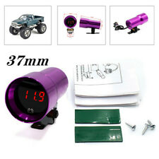 37mm Voltage Gauge Compact Micr Digital Smoked Lens Volt Battery Gauge Universal