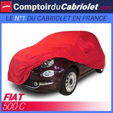 Housse Coverlux sur-mesure en Jersey rouge pour cabriolet Fiat 500C
