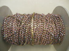 4 ft.swarovski rhinestone chain,24pp rose and rose AB multi #1100,unplated