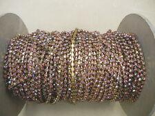 4 ft.swarovski rhinestone chain,24pp rose and rose AB multi #1100,unplated