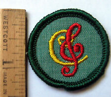 Girl Scout Junior 1963-1980 Songster Badge Group Musician Patch Choose Year