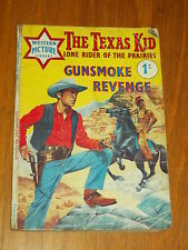 WESTERN PICTURE LIBRARY GUNSMOKE REVENGE THE TEXAS KID BRITISH COMIC (a)