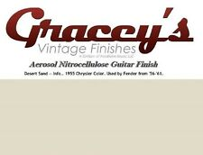 -Desert Sand- Gracey's Vintage Finishes Nitrocellulose Guitar Lacquer Aerosol.