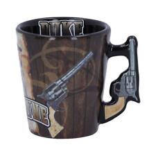 More details for john wayne the duke espresso cup coffee gift gun handle nemesis now free p+p
