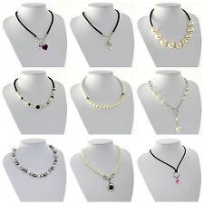 Modeschmuck-Halsketten & -Anhänger aus Perlen mit Strass