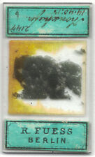 Superb Antique  Microscope Slide R. Fuess Minerology Petrology