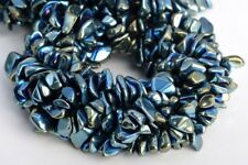 """4x3-10x5MM Green Hematite Pebble Chips Grade AAA Natural Loose Beads 7.5"""""""