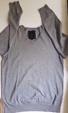 Jack Jones Premium Men's  Grey V neck jumper sweater pullover Size M