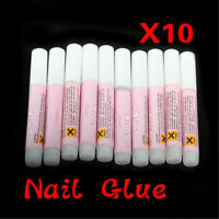 10 x 2g Mini ProfessionaL Beauty Nail False Art Decorate Tips Acrylic Glue DIY