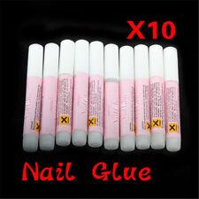 Nail Glue Clear Strong Adhesive 10 X 2g Acrylic False Nails Tips Art UK SELLER