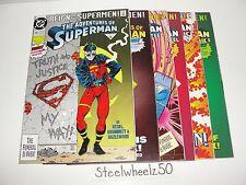 Superman Reign Of Supermen 6 Die-Cut & Newsstand Variant Comic Lot DC 1993 Steel