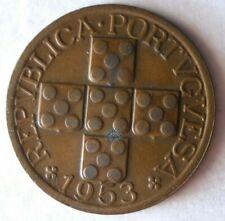 1953 Portugal 20 Centavos - Excellent Pièce de Monnaie Bonne Affaire Bin #137