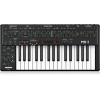 Behringer MS-1-BK Analog Synthesizer w/ 32 Full-Size Keys, USB & MIDI I/O, Black